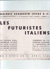 MARINETTI - Les futuristes italiens