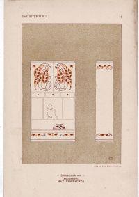 - Das Interieur Wiener Monatshefte für angewandte Kunst Jahrgang II Heft 1-6 Jänner-Juni 1901