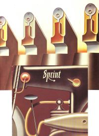 KLAPHECK, KONRAD - Konrad Klapheck Set of 4 invitation cards