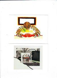 - Roger Raveel set van 2 uitnodigingen