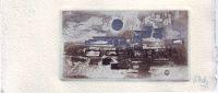 MELS, RENÉ - René Mels original color etching with aquatint and embossing